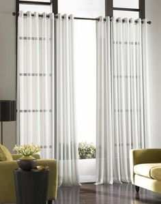 Soho Voile Lightweight Sheer Grommet Curtain Panel / Curtainworks.com