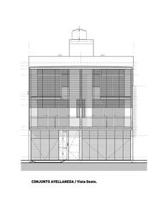 Image 26 of 26 from gallery of Avellaneda Project / LOF / Colectivo de Arquitectura. West Elevation