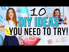 10 DIY Project Ideas You NEED To Try! - YouTube this girl is soooooo cool