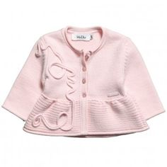 Dior Girls Pink Chunky-Knit Cardigan