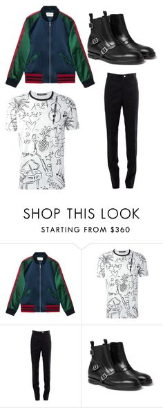 """""""A"""" by joshua-little on Polyvore featuring Gucci, Dolce&Gabbana, Thom Browne, Alexander McQueen, men's fashion and menswear"""