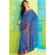 Online Shopping for Dodger Blue Raw Silk Printed Casual | Silk Sarees | Unique Indian Products by Senorita Creations Private Limited - MSENO22267794770