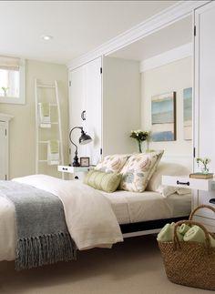 From family room to guest bedroom with murphy bed design. Bedroom Retreat, Home Bedroom, Bedroom Decor, Bedroom Ideas, Bedroom Storage, Bed Ideas, Bedroom Photos, Bedroom Closets, Bed Storage