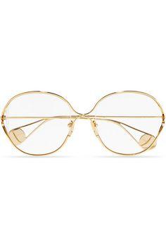 8a37a37412f Gucci - Round-frame gold-tone optical glasses