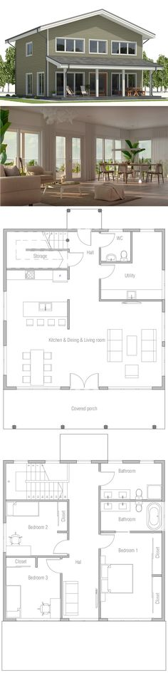 Small Home Plan - (4) beds (1) bath up