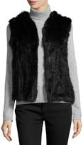 fur-neiman marcus hooded rabbit fur vest black