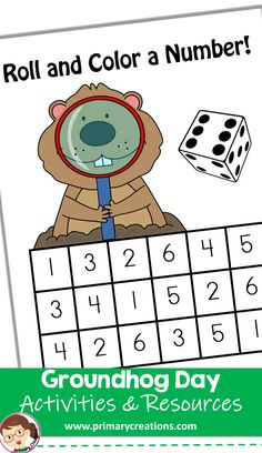 Use this idea for Groundhog Day to teach numbers 1 - Preschool Rooms, Preschool Centers, Preschool Printables, Preschool Math, Preschool Ideas, Math Centers, Maths, Kindergarten, Preschool Groundhog
