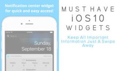 15 Best Free iOS 10 Widgets You Must Have