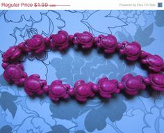 SALE 25 Pieces 1 Full Strand 16 Turtle by IvanasGiftsNThings, $1.89