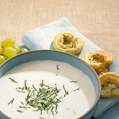 Ajo blanco. Mandeln. Knoblauch. Kalte Suppe.