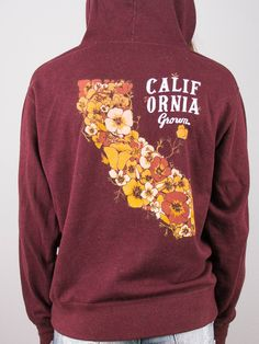 California Grown  Zip up Sweatshirt