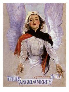 Howard Chandler Christy, 'Your Angel of Mercy' WWI Red Cross recruitment poster, Nursing Angel, Hump Day Humor, Nurse Aesthetic, Nurse Photos, Nurse Art, Vintage Nurse, American Red Cross, American War, Oldschool
