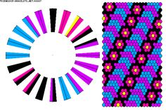 Learn to make your own colorful bracelets of threads or yarn. Braid Patterns, Peyote Patterns, Beading Patterns, Kumihimo Bracelet, Bracelet Fil, Thread Bracelets, Woven Bracelets, Friendship Bracelet Patterns, Friendship Bracelets