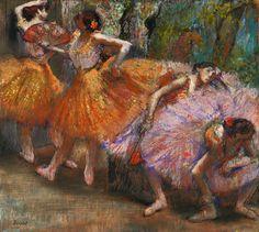 Edgar Degas, (19 July 1834 – 27 September 1917), Dancers with Fans  (c.1899)