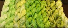 Hand dyed yarn organic bamboo yarn Artist vegan by Klarabela