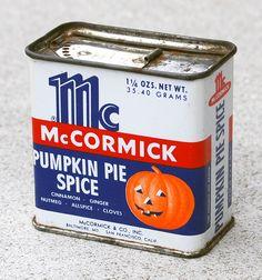 McCormick Pumpkin Pie Spice, 1950's