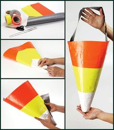 duct tape candy corn treat bag
