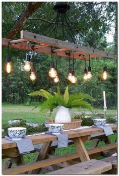Outdoor Antique Farmhouse Ladder Chandelier with Vintage Edison Bulbs - Pendant . Outdoor Antique Farmhouse Ladder Chandelier with Vintage Edison Bulbs - Pendant Lighting - Cozy up to the table and Antique Farmhouse, Farmhouse Style, Farmhouse Ideas, Farmhouse Garden, Modern Farmhouse, Farmhouse Front, Farmhouse Design, Farmhouse Decor, Outdoor Lighting