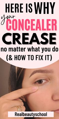 Under Eye Creases, Under Eye Makeup, Eye Makeup Tips, Beauty Makeup, Makeup Hacks, Best Under Eye Concealer, How To Apply Concealer, Best Concealer, How To Apply Makeup