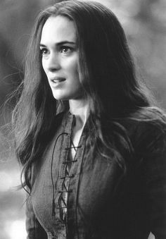 """Abigail Williams (Winona Ryder) to John Proctor (Daniel Day-Lewis): """"I am but God's finger, John. If he would condemn Elizabeth, she will be condemned."""" -- from The Crucible (1996) directed by Nicholas Hytner"""