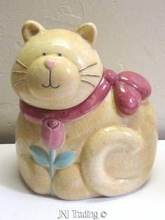 Vintage Whimsical Fat Cat Cookie Jar