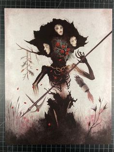 Christina Ricci, Death Note, Supernatural, Art Noir, Indie, Salem Witch Trials, Sumi Ink, Arte Obscura, Occult Art