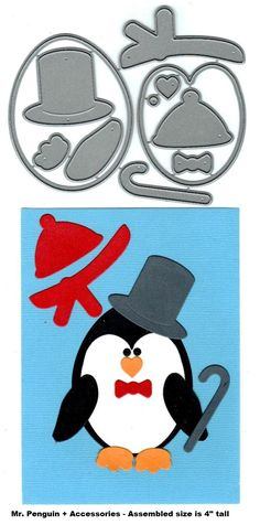 Frantic Stamper - Precision Dies - Mr Penguin (set of 11) $22.99  If you love Penguins this is the die for you!