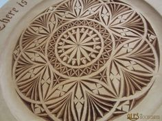 My third carving of the quote from Thus Spoke Zarathustra by Friedrich Nietzsche.   The base of the design is a 6-pointed rosette which tur...