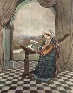 """Edmund Dulac. The Wind's Tale from """"Stories from Hans Andersen"""" (1911)"""