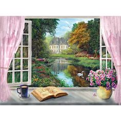Tea Time - View on the Garden - 500pc jigsaw puzzle