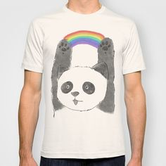 panda beam T-shirt by Tipsyeyes - $18.00