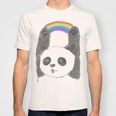 panda beam T-shirt by Tipsyeyes - $18.00