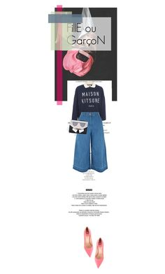 """FillE ou GarçoN"" by farahhind ❤ liked on Polyvore featuring StyleNanda, Fendi, Maison Kitsuné, New Look and Karl Lagerfeld"