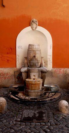 #fountain #trastevere #viadellacisterna