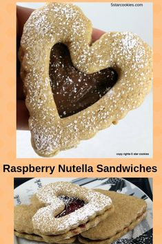 Raspberry Nutella Sandwiches - Your Friday JOY - 5 Star Cookies Nutella Macarons, Nutella Snacks, Nutella Jar, Nutella Cookies, Nutella Recipes, Cookie Recipes, Snack Recipes, Yummy Recipes, Dessert Recipes