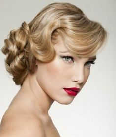 vintage wedding hairstyles   this can be a super cool vintage bridal hairstyle take the hair back ...