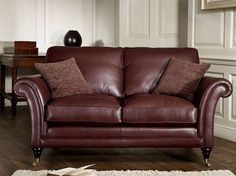 Parker Knoll | Burghley | 2 Seater Sofa | Striking chocolate leather.