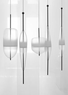 Murano #glass pendant #lamp FLOW T by @bensimonbrand