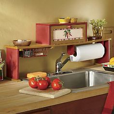 Captivating Chili Pepper Over The Sink Shelf