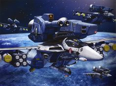 Robotech Tenjin Hidetaka Art Works of Macross Super-Strike Veritech Valkyries Macross Valkyrie, Robotech Macross, Gundam, Macross Anime, Spaceship Art, Sci Fi Ships, Japanese Anime Series, Concept Ships, Ex Machina