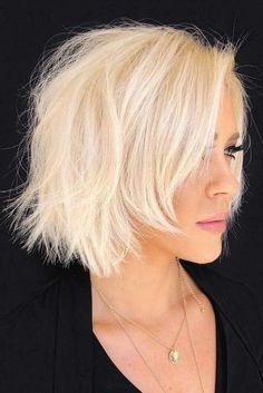 24 Volumetric Choppy Bob Hairstyles To Amp Up Your Look In 2019 © Copyright Lov 24 Volumetric Choppy Bob Hairstyles To Amp Up Your Look In 2019 © Copyright Lovehairstyle Main photo: Volumetric Choppy Bob Hairstyles To Amp Up Your Look In bob hai Stacked Bob Hairstyles, Bob Hairstyles For Fine Hair, Hairstyles Haircuts, Bob Haircuts, Blonde Hairstyles, Layered Haircuts, Latest Haircuts, Pretty Hairstyles, Hairstyle Ideas
