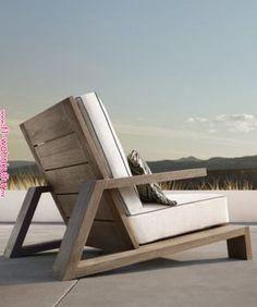 Have a Teak Lounge Chair - Dream Back Yard - Chair Design Diy Outdoor Furniture, Deck Furniture, Woodworking Furniture, Pallet Furniture, Furniture Projects, Outdoor Chairs, Modern Furniture, Furniture Design, Adirondack Chairs