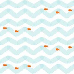 Gold Fish fabric by natitys on Spoonflower - custom fabric