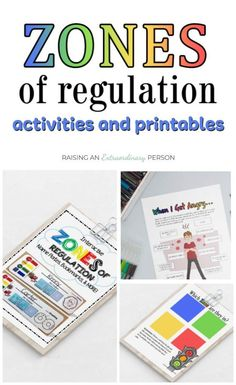 Zones of Regulation Activities and Printables - These activities help teach and reinforce the zones of regulation framework for teaching emotional regulation to kids. Teaching Emotions, Emotions Activities, Social Skills Activities, Counseling Activities, Social Emotional Learning, Feelings And Emotions, Learning Activities, Play Therapy Activities, Feelings Chart