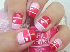 I am showcasing love nail art designs and ideas of 2014 for Valentine's Day. These heart nails are co cute and beautiful, it will not take much longer and you can apply them easily. Love Nails, Pretty Nails, My Nails, Valentine Nail Art, Holiday Nail Art, Heart Nail Art, Heart Nails, Heart Ring, Pink Nail Art
