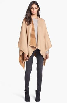 I really would love to wrap myself in this!!!! (Black would be awesome too) Burberry Merino Wool Ruana | Nordstrom