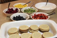 These fruit pizza cookies are a great way to translate creativity to food on a retreat.