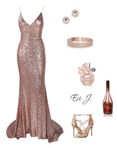 """""""New Years Eve Glamour."""" by gorgeoussbella ❤ liked on Polyvore featuring Viktor & Rolf, EF Collection, Steve Madden, Armand De Brignac and Allurez"""