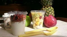 Freh fruit salad and Granola to go