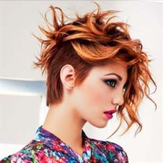 19 Trendsetting Short Brown Hair Colors for 2019 - Style My Hairs Asymmetrical Pixie Cuts, Asymmetrical Hairstyles, Funky Hairstyles, Pixie Haircuts, Short Brown Hair, Short Hair Cuts, Wavy Pixie, Long Pixie, Look 2015